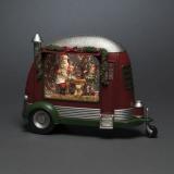 Konstsmide 4386-550 Koristevalaisin jossa asuntovaunu ja joulupukki