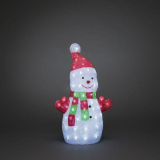 Konstsmide 6297-203 Koristevalaisin lumiukko, 50 cm