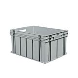 Schoeller Allibert Euroback 6440 Kuljetuslaatikko harmaa, kera tarttumisaukkoja 800x600x415 mm