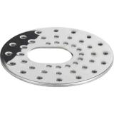 Gelia 3003036182 Siivilä varten laattakehys, ruostumaton, 163 mm Kanssa syvennys