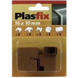 Plasfix 3420-9G Nivelet ja kulmakappaleet Plasfix-kaapelikanaviin, 16 x 10 mm Tiikki