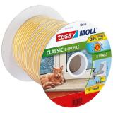 Tesa E-list 55701-00100-00 Kuminen tiivistenauha EPDM, 100 m, 9 mm x 4 mm Valkoinen
