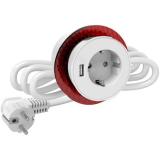 Elko EKO04462 Pöytäpistorasia Schuko + USB valkoinen