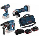 Bosch 18V 3 TOOL KIT Työkalupaketti 3 kpl työkalua, sis. akut ja laturin