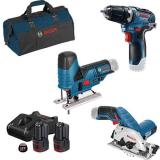 Bosch 12V 3 TOOL KIT Työkalupaketti 3 kpl työkalua, sis. akut ja laturin