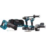 Makita DK0126G401 Yhdistelmäpaketti 4 kpl työkalua