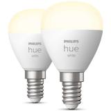 Philips Hue White LED-valo 5.7W, P45, E14, 2 kpl/pakkaus